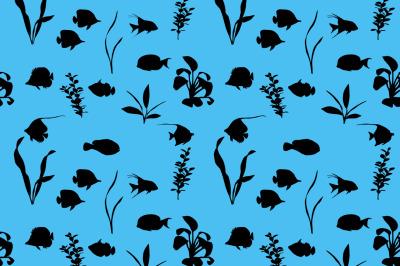 Marine fish silhouette