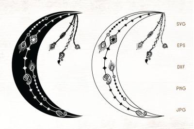 Crescent Moon - Moon SVG Cut File