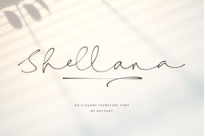 Shellana || Elegant Signature Font