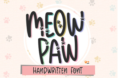 Meow Paw - Pet Handwritten Font