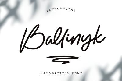 Ballinyk - Handwritten Font