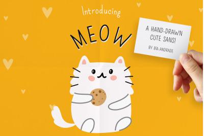 Meow: a hand-drawn cute sans