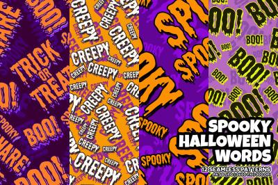 Spooky Halloween Words