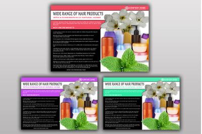 Hair Product Flyer