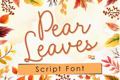 Pear Leaves - Autumn Script Font