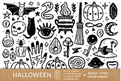 Ink Halloween. Png Eps Jpeg Svg Dxf