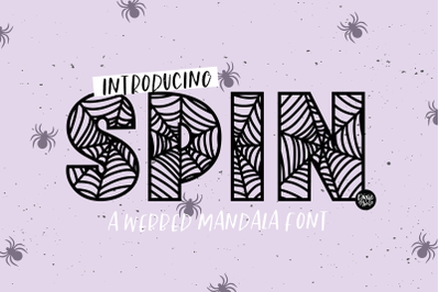 SPIN a Webbed Mandala Font