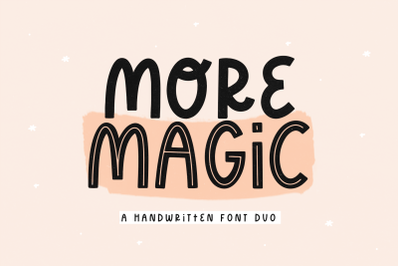 More Magic - Modern Handwritten Font