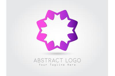 Logo Abstract Flower Gradation Purple