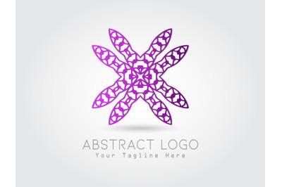 Logo Abstract Purple Gradation Color