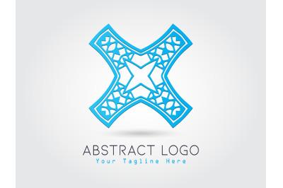 Logo Abstract Blue Color Design