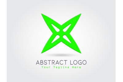 Logo Abstract Green Color Design