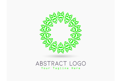 Logo Abstract Circle Green Color