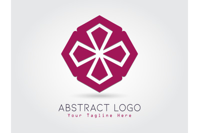 Logo Abstract Purple Color Design