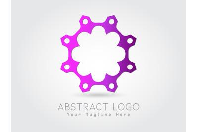 Logo Abstract  Gradation Purple Color Design