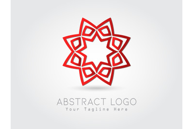 Logo Abstract Star Gradation Red Color