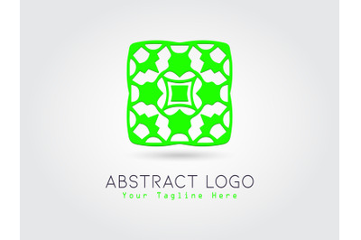 Logo Abstract Square Green Color Design
