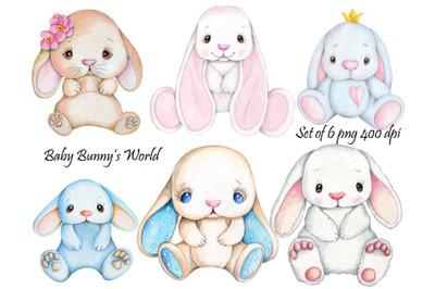 Baby Bunny's World. Illustrations.