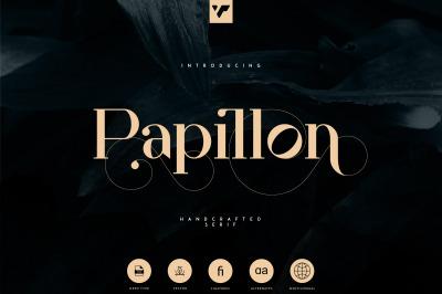 Papillon - Handcrafted Serif Font
