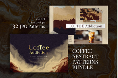 COFFEE ABSTRACT PATTERNS BUNDLE