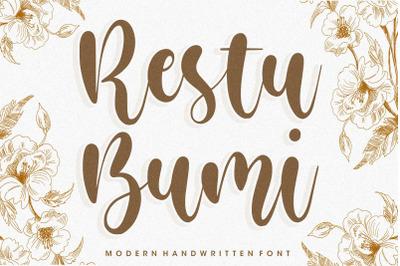 Restu Bumi Modern Handwritten Font