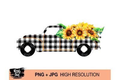 Watercolor vintage truck