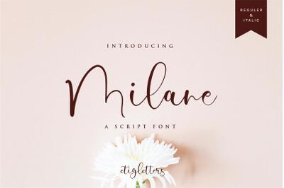 Milane Script