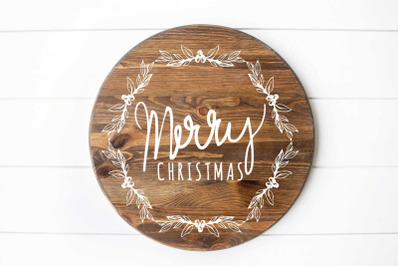 Merry Christmas round sign design design