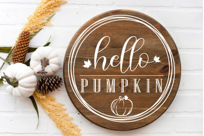 Hello Pumpkin Digital svg file