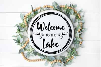 Welcome to the Lake SVG digital file