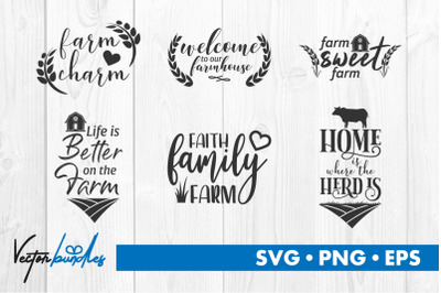 Farm quotes bundle svg