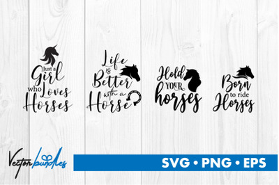 Horse quotes bundle svg