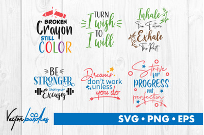 Motivational quotes bundle svg