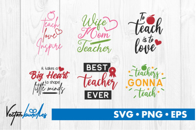 Teacher quotes bundle svg
