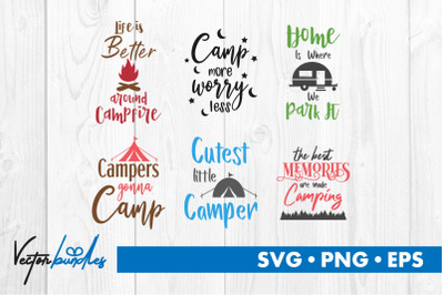 Camp quotes bundle svg