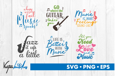 Music quotes bundle svg
