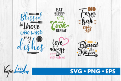 Kitchen quotes bundle svg