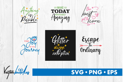 Inspirational quotes bundle svg