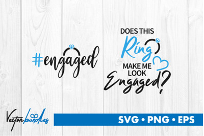 Engaged ring quotes bundle svg