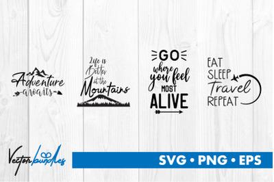 Adventure quotes bundle svg