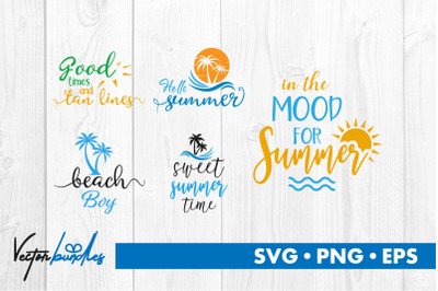 Summer quotes bundle svg
