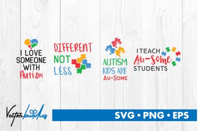 Autism quotes bundle svg