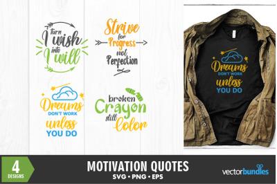 Motivational quotes bundle svg