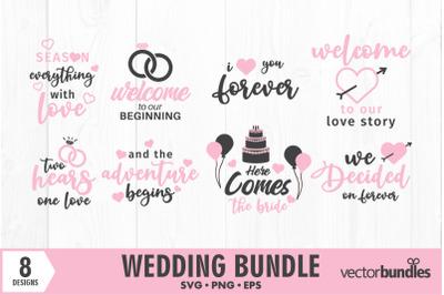 Wedding quotes bundle svg