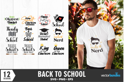 Back to school quotes bundle svg