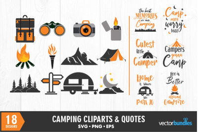 Camping quotes and clip art svg