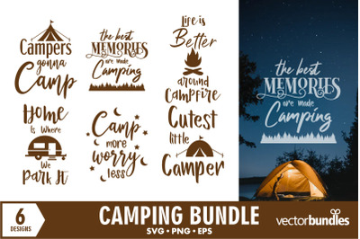 Camping quotes svg bundle
