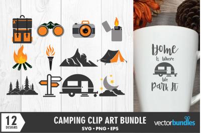 Camping clip art svg