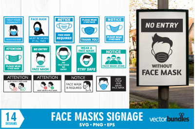 Face mask signgage