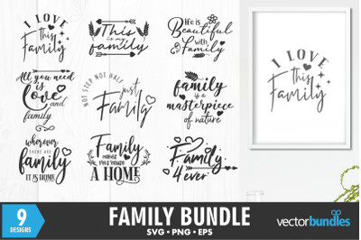 Family quotes bundle svg